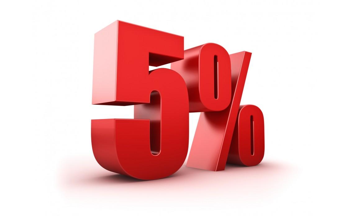 Zľava 5%